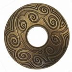 Maori Design Old Brass Belt Buckle. Code BUC062
